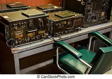 Radio room in bunker, Vietnam