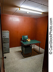 Secret war room in bunker, Vietnam, Saigon