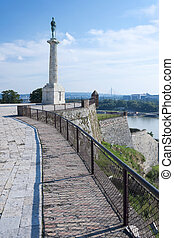Belgrade Serbia - Victor Monument on Kalemegdan Fortress...