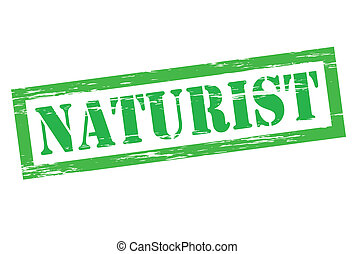 Naturist - Stamp with word naturist inside, vector...