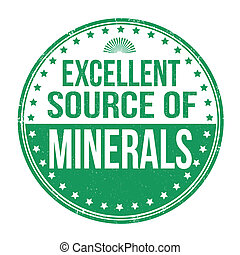 Excellent source of minerals stamp - Excellent source of...