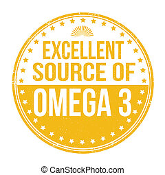 Excellent source of omega 3 stamp - Excellent source of...