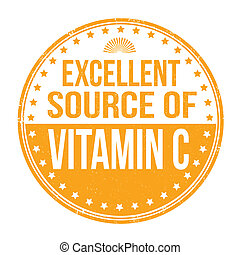 Excellent source of vitamin C stamp - Excellent source of...