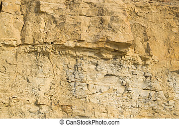 Limestone - Full frame take of a limestone rock face