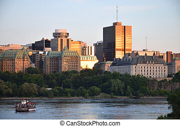 Ottawa Downtown - Downtown Ottawa seen from the Ottawa River...