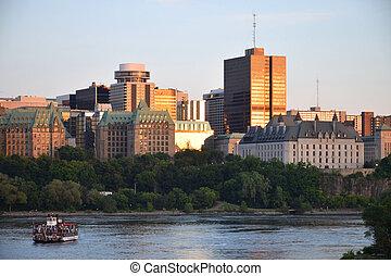 Ottawa Downtown - Downtown Ottawa seen from the Ottawa River...
