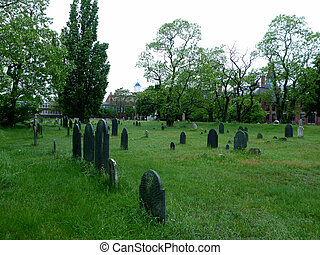 Graveyard in Salem, Masachusetts - Historic Graveyard, The...