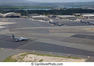 Joint Base Pearl Harbor-Hickam - Aeriel of Planes at Joint...