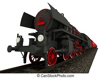 Steam Locomotive Isolated