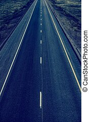 Straight Highway - Empty Straight Two Lanes Highway From...