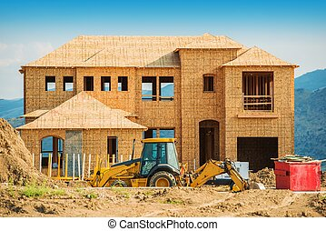 New House Building. House Construction. Real Estate...