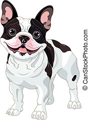 French bulldog - Illustration of cartoon French bulldog