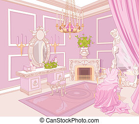 Princess dressing room in a palace