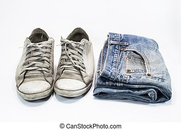 sneakers isolated on white background -