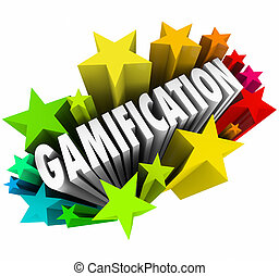 Gamification Word Stars Fireworks Exciting Online Learning...