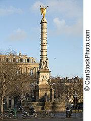 La Fontaine du Palmier in the Place du Ch�telet, Paris,...
