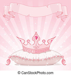 Princess crown background - Shiny background with Princess...