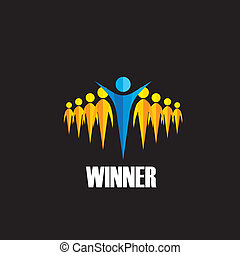 winner winning competition - vector concept This graphic...