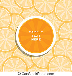 creative lemon or orange  banner