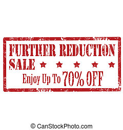 Further Reduction -stamp - Grunge rubber stamp with text...