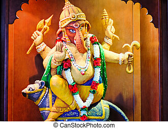 Statue of the Indian deity Ganesh.