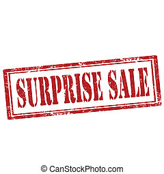 Surprise Sale-stamp - Grunge rubber stamp with text Surprise...