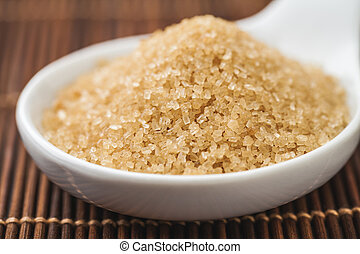 grains of sugar cane - crystals demerara sugar cane from...