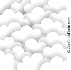 Abstract White Cloud Paper Background. Vector illustratioin