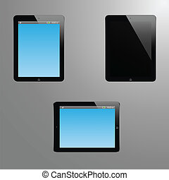 Realistic illustration of a tablet