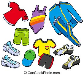 Sport clothes collection - isolated illustration.