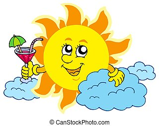 Sun with drink
