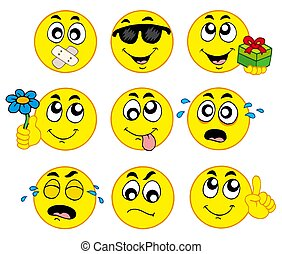 Various smileys 2 on white background - isolated...