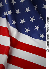 Flag - Closeup of ruffled American flag
