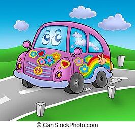 coche,  Hippie, camino