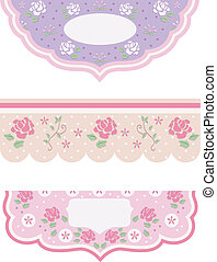 Shabby Chic Borders - Illustration Featuring Borders with a...