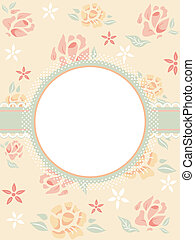 Shabby Chic Frame - Illustration Featuring a Frame with a...