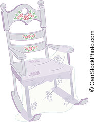 Shabby Chic Rocking Chair - Illustration of a Rocking Chair...