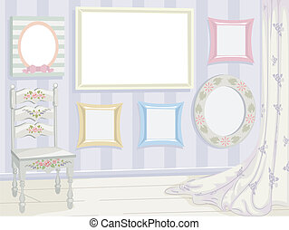 Shabby Chic Frames - Illustration Featuring a Variety of...