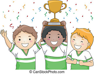 Male Champions - Illustration Featuring a Group of Smiling...