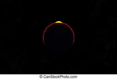 Alien World Eclipse - Image of an alien world with an...