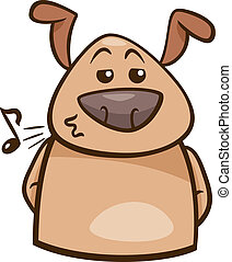 mood chill dog cartoon illustration - Cartoon Illustration...