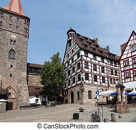 Nuremberg - cityl view of Nuremberg in Bavaria (Middle...