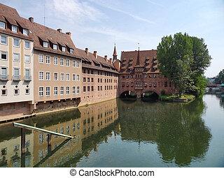 Nuremberg - city view of Nuremberg in Bavaria (Middle...
