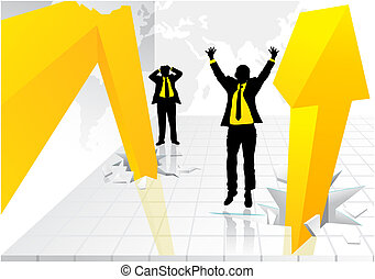 Business graph - Illustration of a graph where the figures...