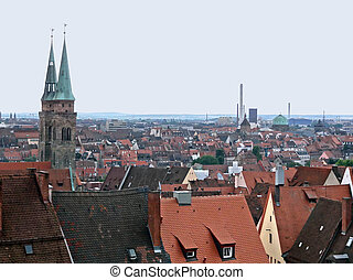 Nuremberg - aerial view of Nuremberg in Bavaria Middle...