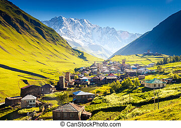 Ushguli that consists of four small villages located at the...