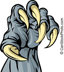 Monster animal claw - An illustration of a scary monster or...