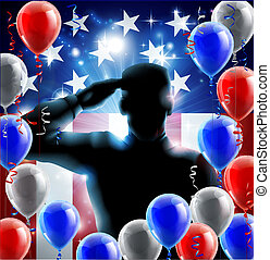 Fourth July Independence Day Concep