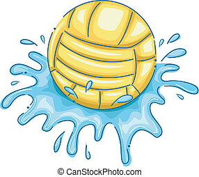 Water Polo Ball - Illustration Featuring a Water Polo Ball...