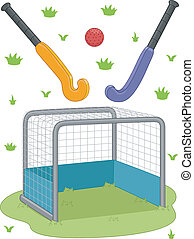 Field Hockey Equipment - Illustration Featuring Field Hockey...